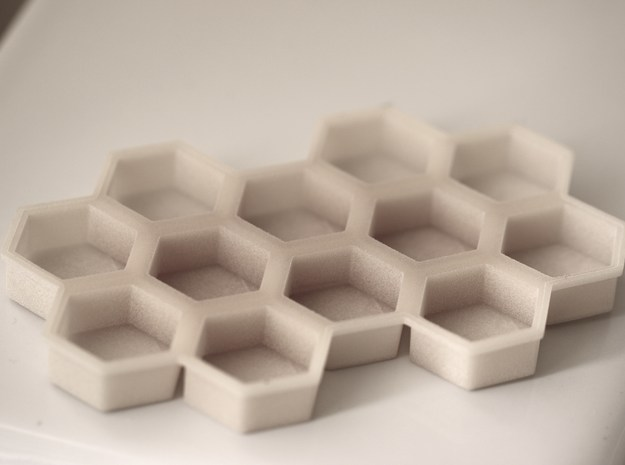 Beehive ice tray in White Strong & Flexible