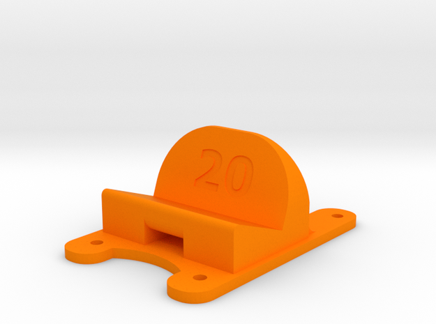 ZMR250 - 20° Action Cam Mount in Orange Processed Versatile Plastic