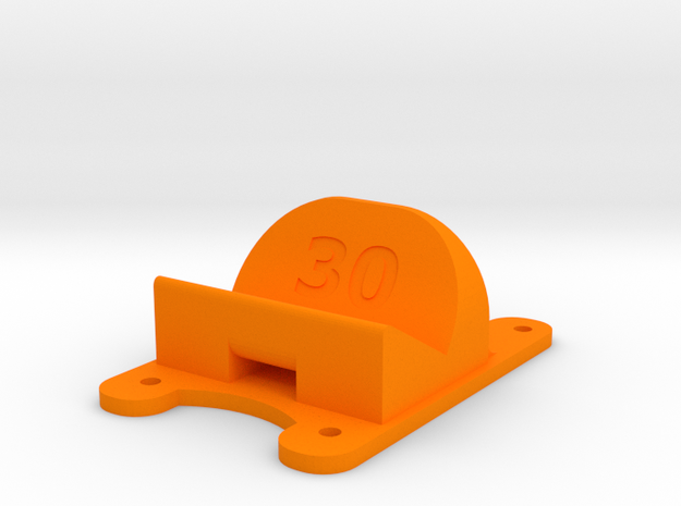 ZMR250 - 30° Action Cam Mount in Orange Processed Versatile Plastic