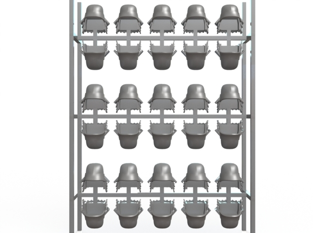 30 samurai helmets for 28mm miniatures 3d printed Full sprue