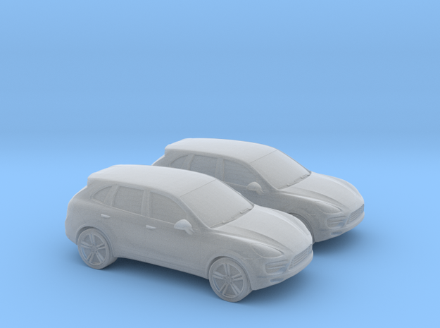 1/148 2X Porsche Cayenne in Smooth Fine Detail Plastic