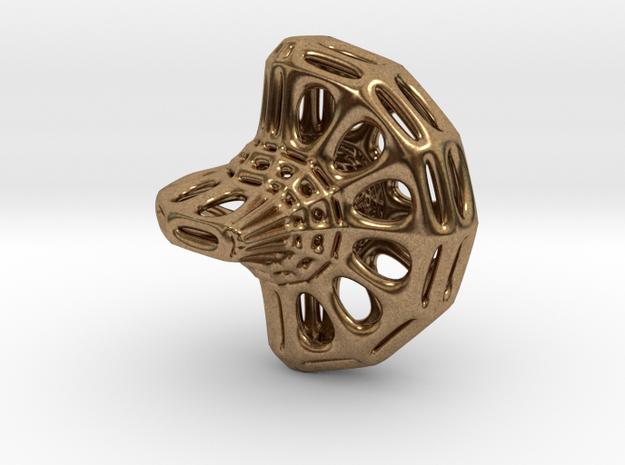 Sphericon Pendant in Natural Brass