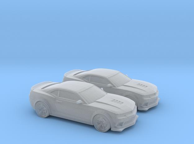 1/148 2X 2014 Chevrolet Camaro Z28 in Smooth Fine Detail Plastic