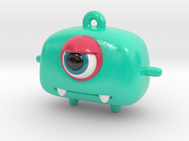 Little Monster Keychain/Pendant in Glossy Full Color Sandstone