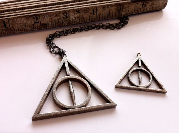 Extra Large Deathly Hallows Pendant 3d printed