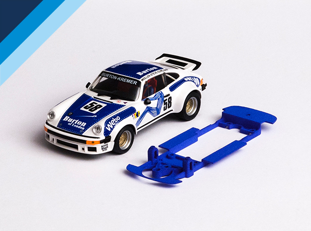 1/32 Ninco Porsche 911 Chassis for Slot.it pod in Blue Processed Versatile Plastic