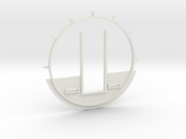 DeAgo Cockpit Backwall for Paragrafix PE set in White Natural Versatile Plastic