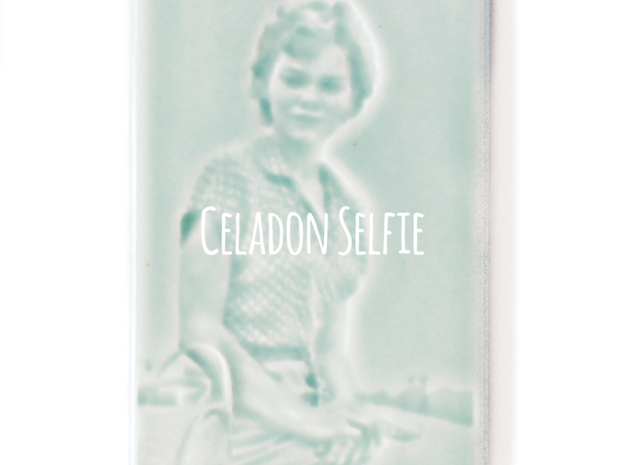 Celadon Selfie Tile IV (Smooth Edge)