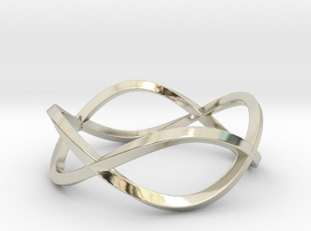 Size 10 Infinity Twist Ring
