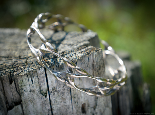 Garden Bangle 3d printed Stainless Steel