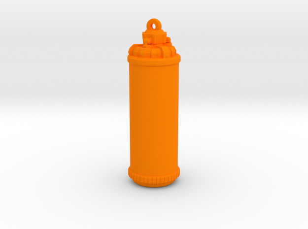 Splatoon Tank [Pendant] in Orange Processed Versatile Plastic