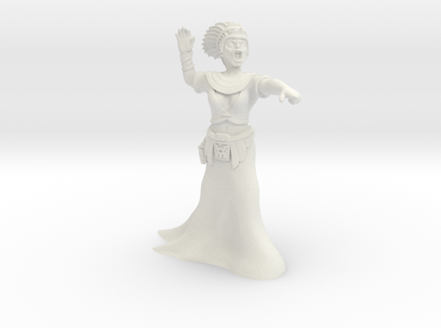 28mm Cleopatra Zombie Witch in White Natural Versatile Plastic