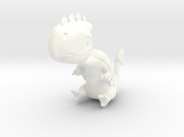 Dino2 in White Processed Versatile Plastic
