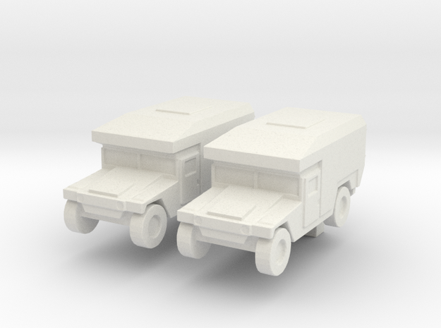 1/200 Humvee M997 set of 2 in White Natural Versatile Plastic