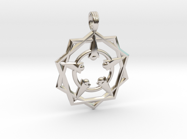 VENUSIAN GLYPH in Rhodium Plated
