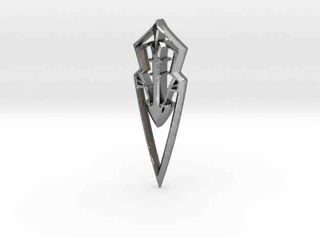 spear 16 small  in Polished Silver