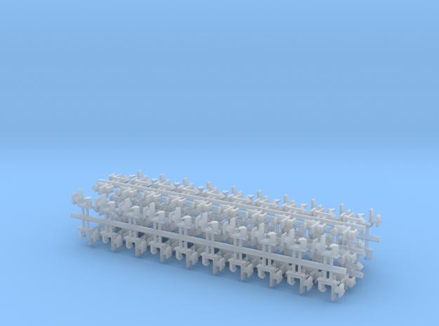 100 Rapido coupler 1.5mm shaft N Gauge 140316 in Smooth Fine Detail Plastic