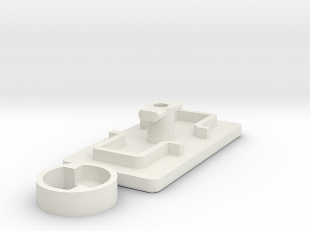 IIgs Port Cover (29mm) in White Natural Versatile Plastic