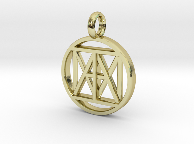"""United """"I AM"""" 3D 21mm Nickel size in 18k Gold"""