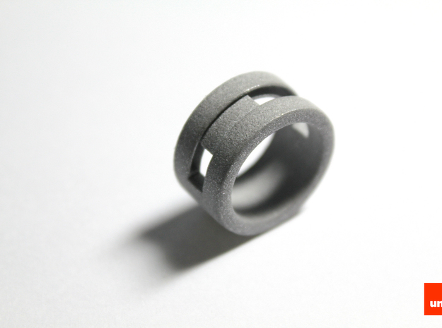 Slider-ring (small) 3d printed In Alumide