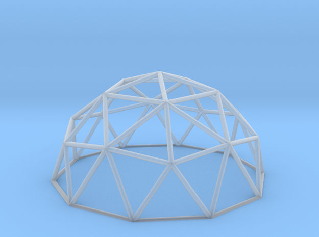 Geodesic Dome in Smooth Fine Detail Plastic