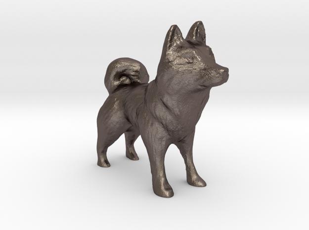 Husky in Polished Bronzed Silver Steel