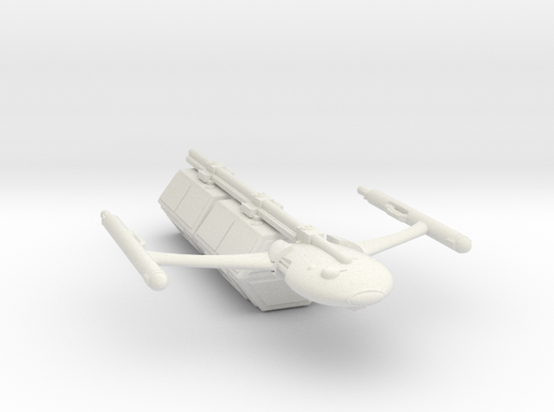 Civilian Modular Freighter with Two Hexagonal Pods in White Natural Versatile Plastic