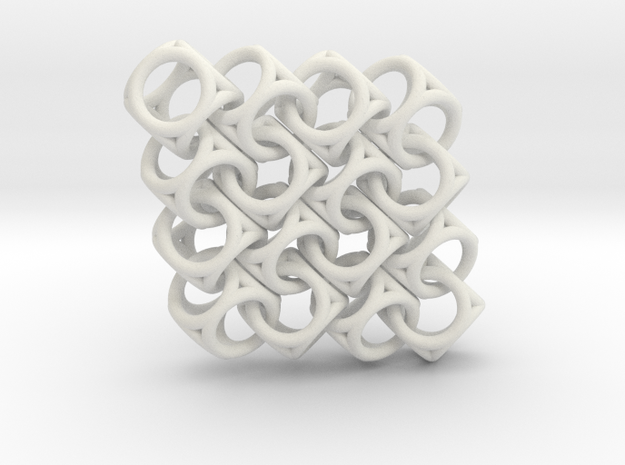 Spherical Cuboid Pattern Design in White Strong & Flexible