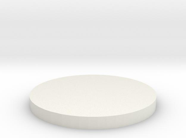 'N Scale' - Grain Dryer Foundation in White Natural Versatile Plastic