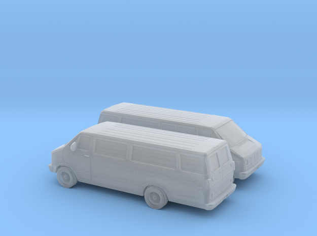 1/160 2X 1986-93 Dodge Ram Van Split Side Door in Smooth Fine Detail Plastic