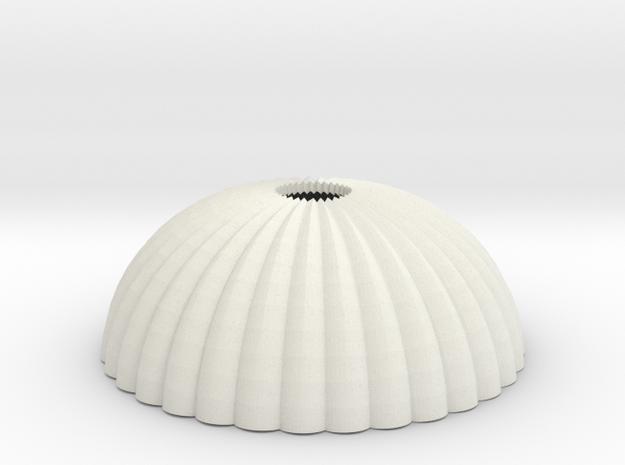 1/200 scale army parachute para Fallschirm in White Natural Versatile Plastic