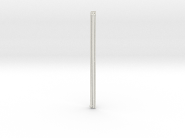 1:96 scale Navy whip antenna - Square (35 Foot) in White Natural Versatile Plastic