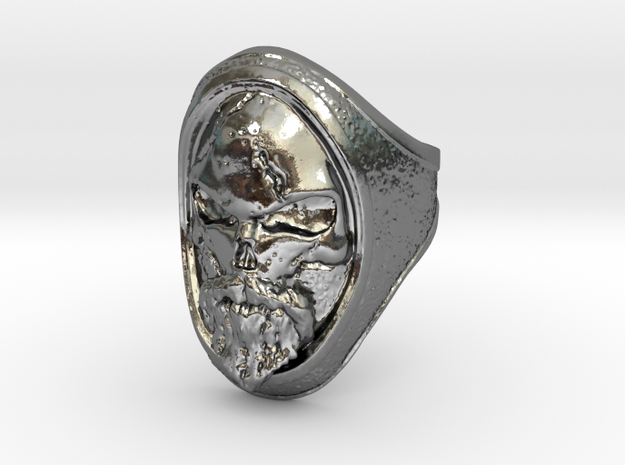 Ring Old Beard // Size US 10 3/4 in Polished Silver