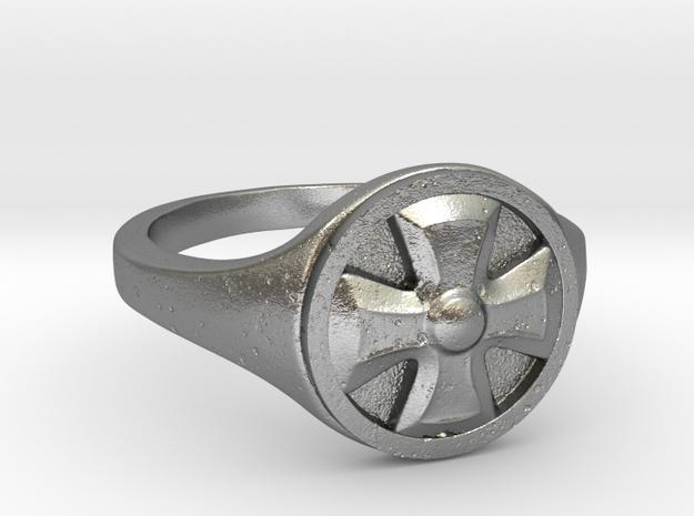 Ring Templier : Croix de Malte // Size US 10 3/4 in Raw Silver