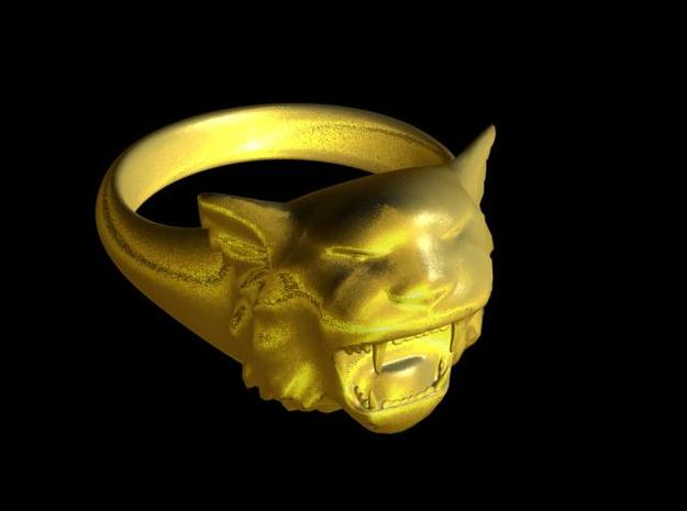 Awesome Tiger Ring Size10 in 14K Yellow Gold