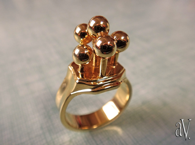 Bulbs Ring in 14k Gold Plated: 7 / 54