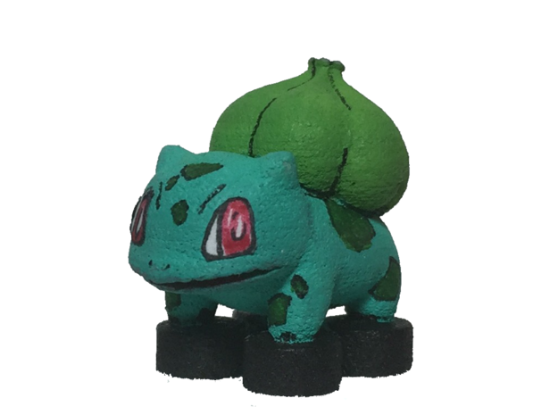 Custom Bulbasaur Pokemon Inspired Figure for Lego in White Processed Versatile Plastic