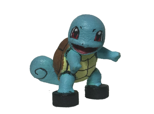 Custom Squirtle Pokemon Inspired Figure Compatible in White Processed Versatile Plastic