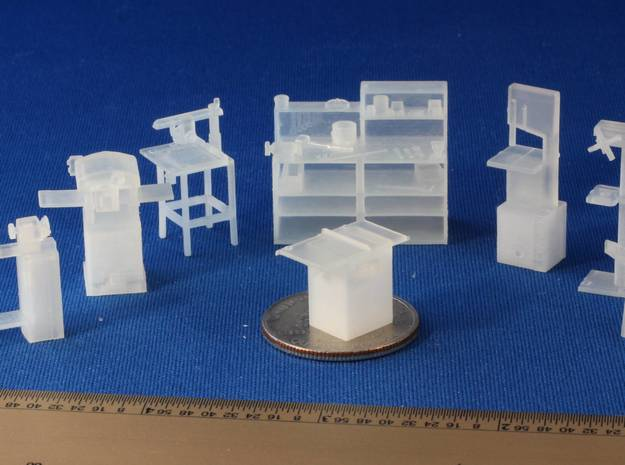 S Scale Power Tools in Frosted Ultra Detail