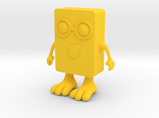 Spongebob-Toy in Yellow Processed Versatile Plastic