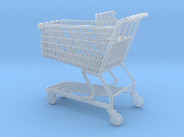 Shopping cart 01. 1:24  in Smooth Fine Detail Plastic