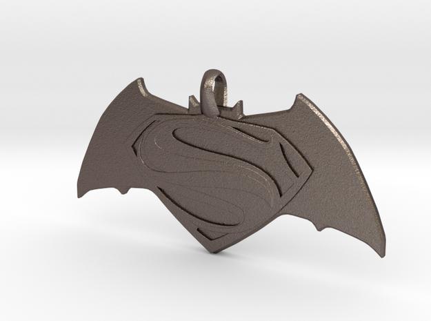 Batman vs Superman Emblem - Reversible Pendant Key in Stainless Steel