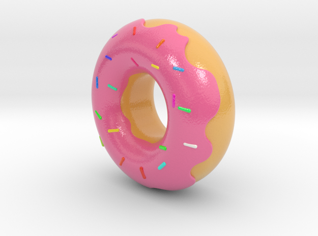 Dude, Its A Donut in Glossy Full Color Sandstone