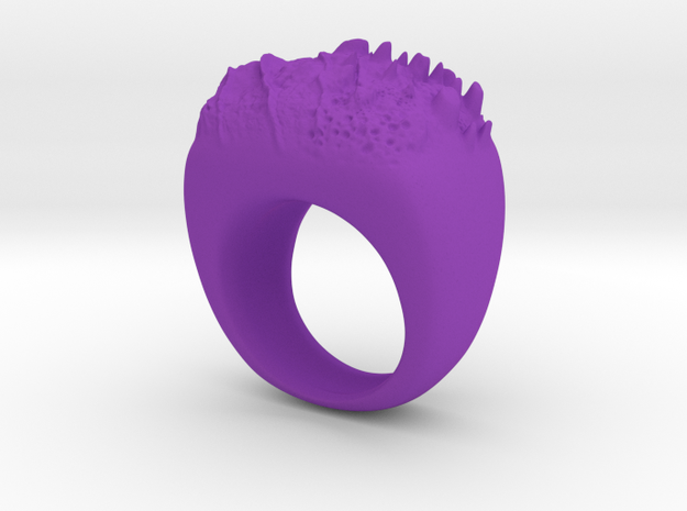 Moon Ring in Purple Processed Versatile Plastic