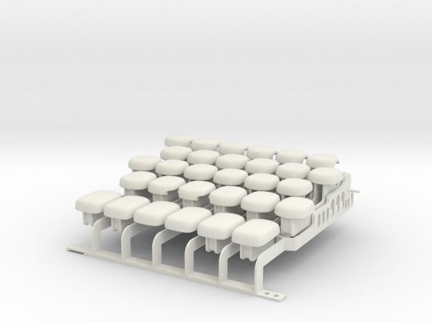 Drop-on Jankó Piano Adaptor - Whole Octave Set