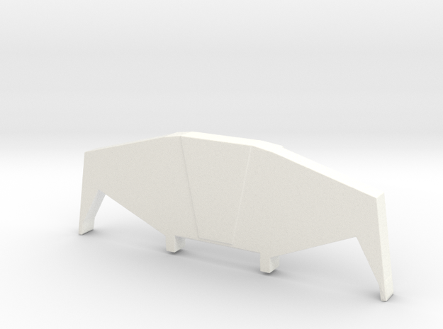 Dx9 Carry Stylized Spoiler/Windvane Rodimus in White Processed Versatile Plastic