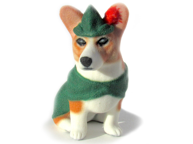 Corgi Hood  in Full Color Sandstone