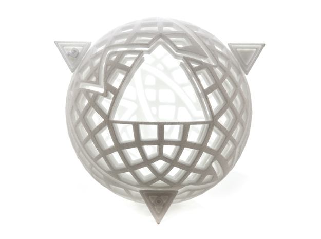 Spheramid Puzzle in White Strong & Flexible