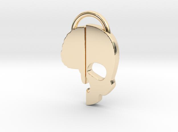 Brainkase Keychain in 14K Gold