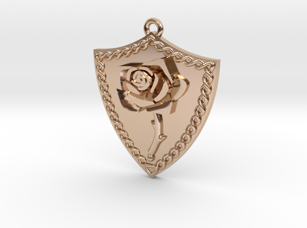 Rose Shield Pendant